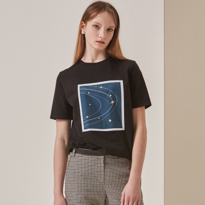 [STELLA7] Orbit Short Sleeve Tee(Black)_(515180)
