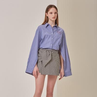 [STELLA7] Stripe Open Sleeve Shirts(Blue)_(515183)