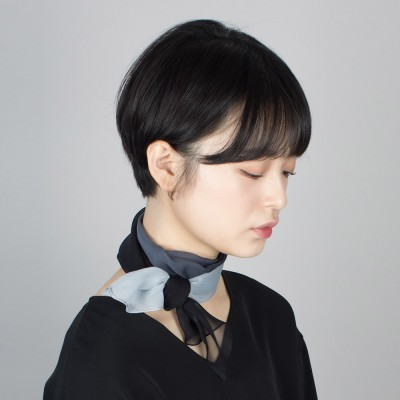 gradation silk mini scarf