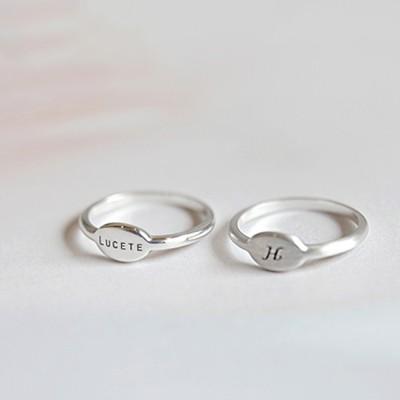 라운드이니셜 Ring (silver925)