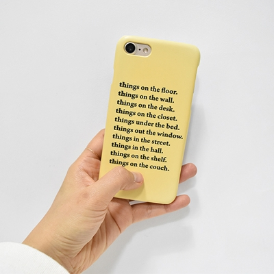 things on the phone case (다기종)