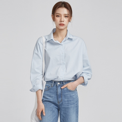 rounding hem casual shirts (3 colors)_(529090)