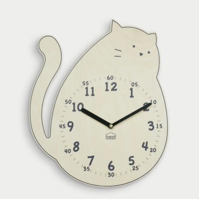 [BEZIT] 사랑스러운 고양이 무소음 벽시계