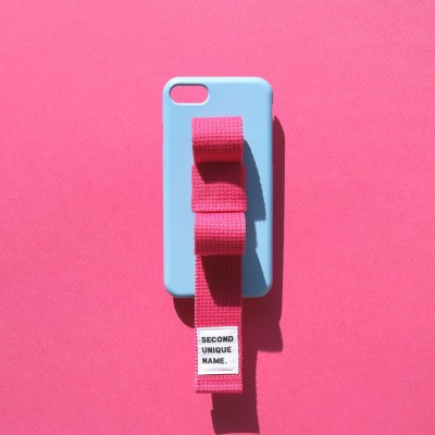 SUN CASE RIBBON LIGHT BLUE DEEP PINK