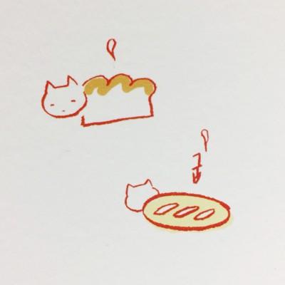 [달의공간] 일러스트엽서 - 4월의 고양이