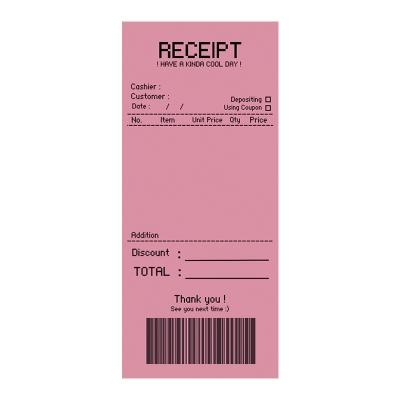 RECEIPT  메모지 (핑크)