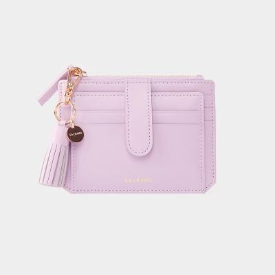 [미니태슬증정]Dijon 301S Flap mini Card Wallet lilac blossom