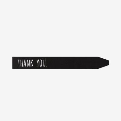 블랙 롱 땡큐 스티커(10개)