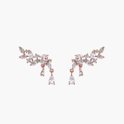 제이로렌 M01982 날개모양 큐빅 로즈골드 귀걸이_(480159)