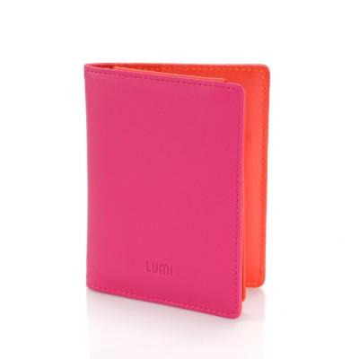 Paula Simple Card Wallet Pink Coral