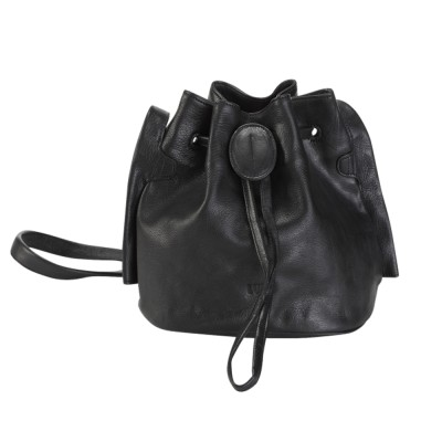 Beata Small Bucket Bag Black