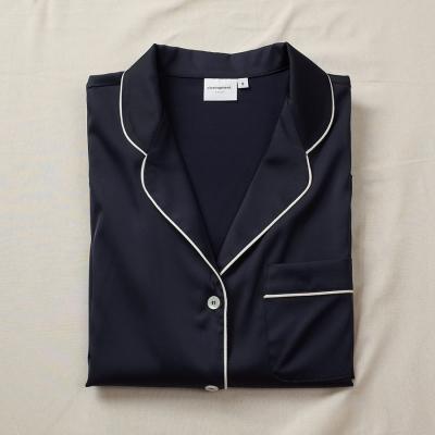 [closingment] silky stretched women's pajama set Azur
