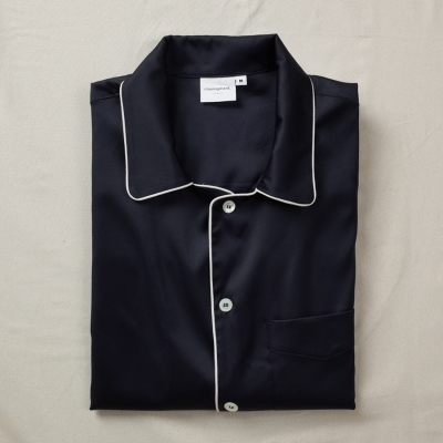 [closingment] silky stretched men's pajama set Azur