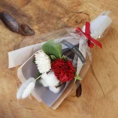 목화 카네이션 꽃다발 레드