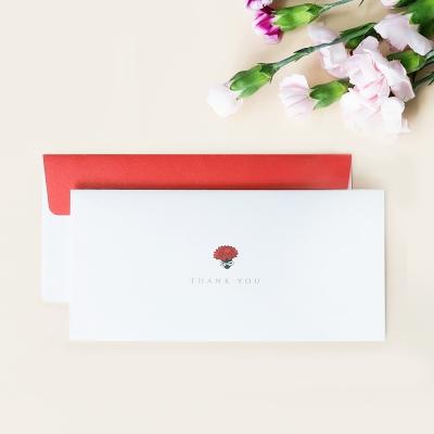 카네이션 감사 봉투