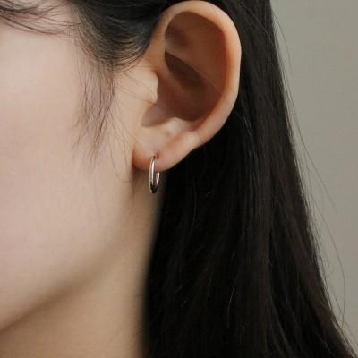 [2컬러]silver open ring earring