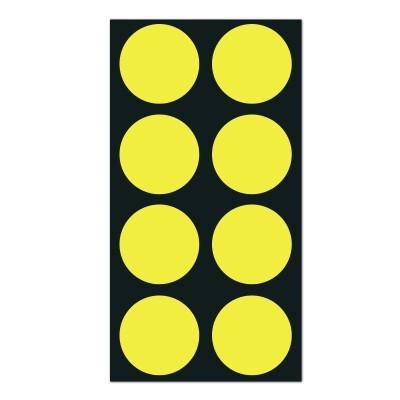 폼텍 마이스티커 도트 02 옐로우 25mm 시트 [10시트]