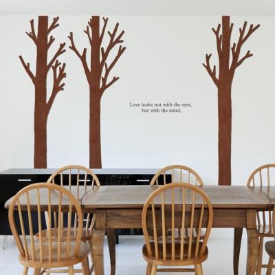 우드스티커- 가시나무 (컬러완제) W506 포인트 입체