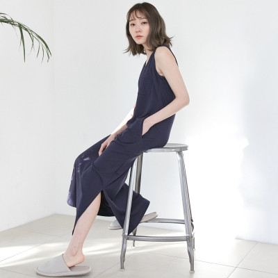 [w] Ankle Jersey One-piece Navy