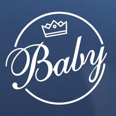 카스티커_ baby on board 크라운 베이비 1