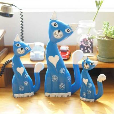블루 피아노 고양이 3P세트