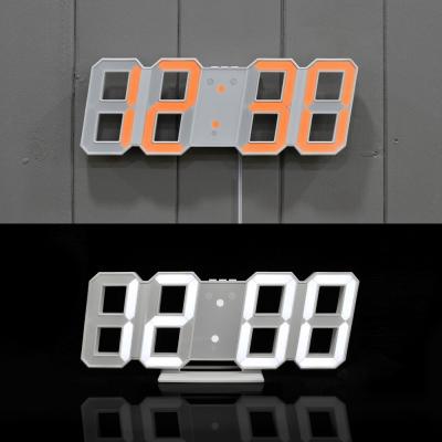 무아스 듀얼컬러 빅사이즈 LED 클락/오렌지&화이트