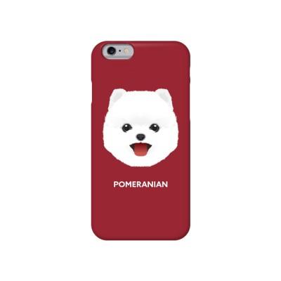 포메라니안 화이트 강아지 케이스 (face)