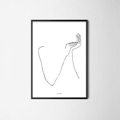 미니멀 인테리어 디자인 포스터 M 드로잉