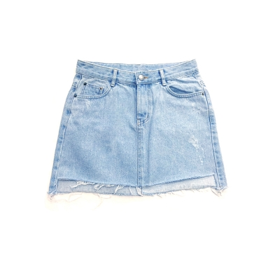 Unbalance Cut Denim Skirt(GIRLS)