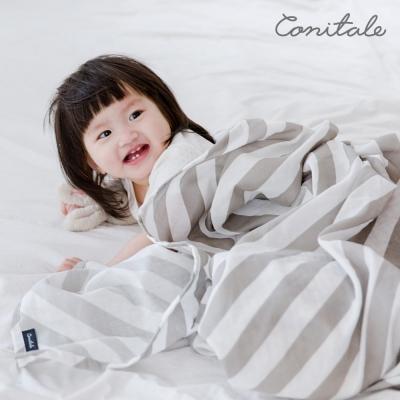 코니테일 퓨어 거즈블랭킷 - 그레이스트라이프 (신생아속싸개 아기이