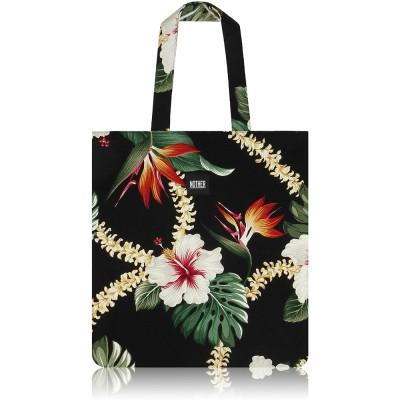 nother Layla Hawaiian Flat Tote Bag (Black)