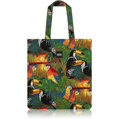nother Tropical Birds Flat Tote Bag