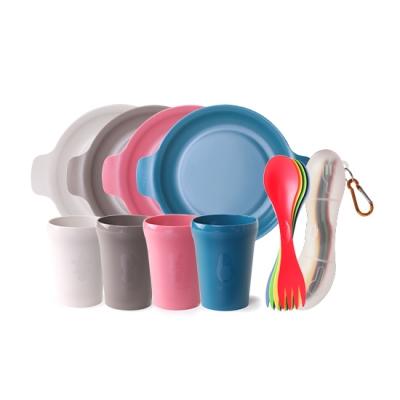 나인웨어 프렌즈 캠핑세트(프렌즈컵+접시+스포크)