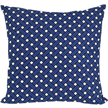 basket blue cushion