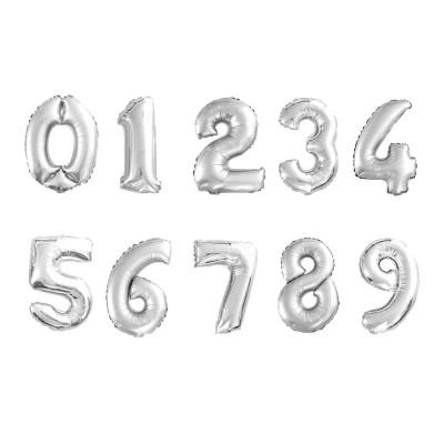 숫자포일풍선 실버 소(S)