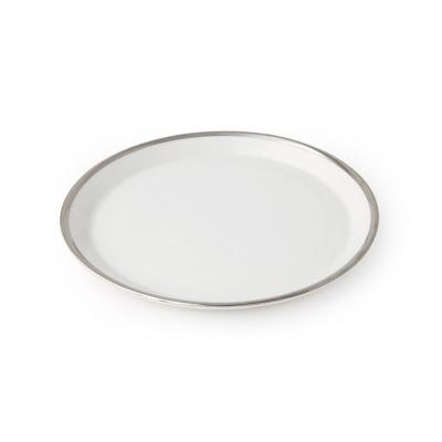 화이트골드 접시 M