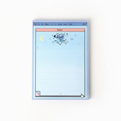 blue moonlight memo pad_A5