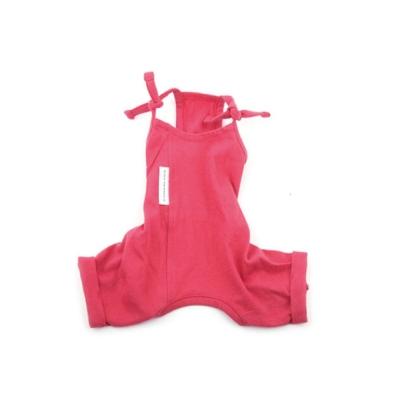 [blackmayonnasie] White Label Cotton Jumpsuit_Coral Red