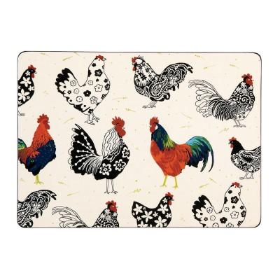 [울스터위버스] 루스터 닭 식탁매트 4p