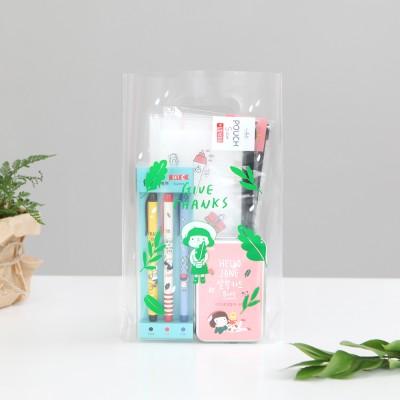 패키징 선물포장 비닐백 5매 (중) 02.젤리그린
