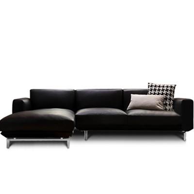 Warm Leather Couch Sofa (웜 레더 카우치 소파 - 블랙 가죽)