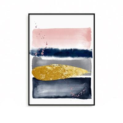패브릭 추상화 인테리어 그림 액자 핑크네이비