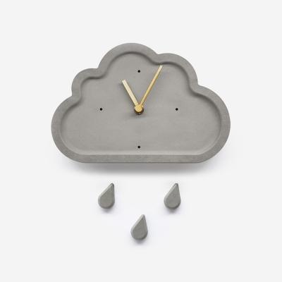 뭉게구름 무소음 벽시계