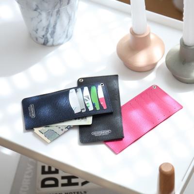 가죽 카드지갑 슬림 세컨드 카드 케이스 - 7color