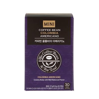 커피빈 콜롬비아 아메리카노 미니 0.9g*30T