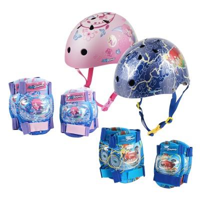 키드자모 어반스타일 유아 아동 헬멧+무릎팔꿈치보호대 세트