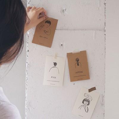 벽꾸미기 도어사인 손그림 메세지카드