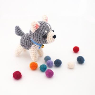(완제품) 손뜨개 시베리안 허스키 강아지 인형 - Pet 시리즈