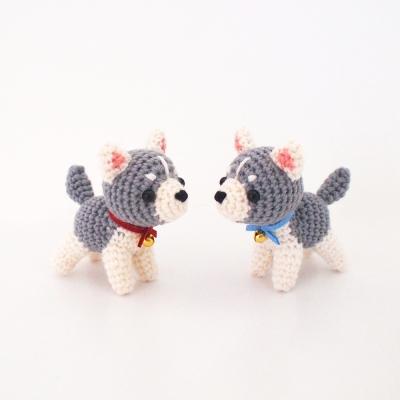(DIY 키트) 손뜨개 시베리안 허스키 강아지 인형 - Pet 시리즈
