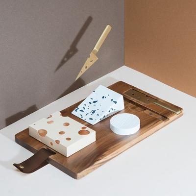 [원더스토어] 도이 원목 치즈 도마 나이프 세트_(912342)